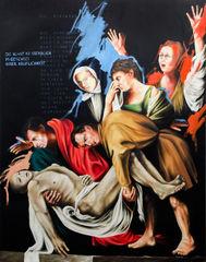 Die Grablegung der Kunst. Überarbeitung 2016. (Nach Caravaggio: Die Grablegung Christi)