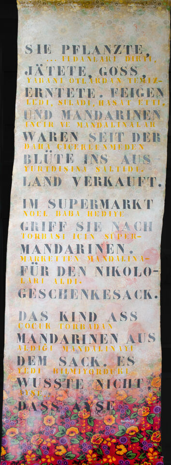 Künstlerische Übersetzung Bildtext ins Türkische: Sinan Gültekin