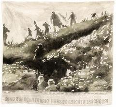 Text: Jung Burschen in Krieg, hübsche Gesichter zerschossen