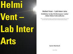 Buchseite Schmutztitel «Helmi Vent – Lab Inter Arts. Einblicke in das Performance-Labor ‹Hätte Hätte Fahrradkette›»