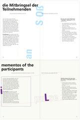 Buchseite 68|69|72|73 «Helmi Vent – Lab Inter Arts. Einblicke in das Performance-Labor ‹Hätte Hätte Fahrradkette›»